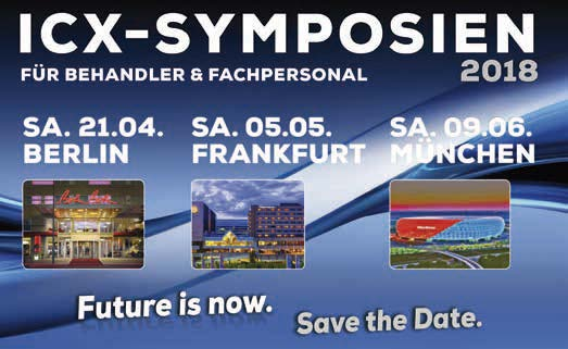 "medentis: ICX Regional-Symposien im 1. Halbjahr 2018 ""Future is now"""